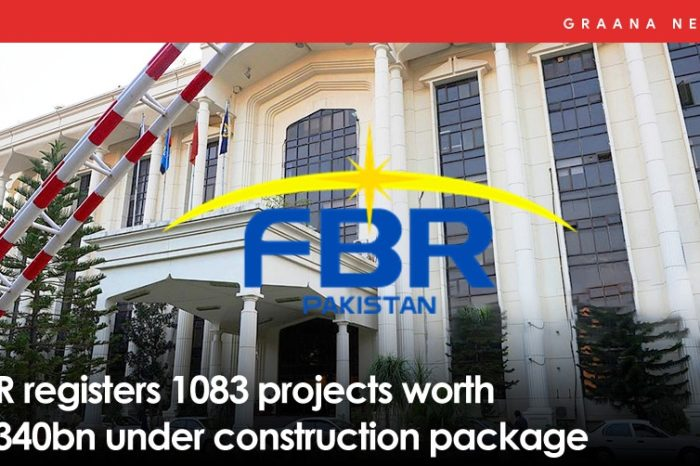 FBR registers 1083 projects worth Rs340bn under construction package
