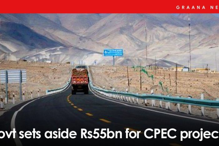 Govt sets aside Rs55bn for CPEC projects