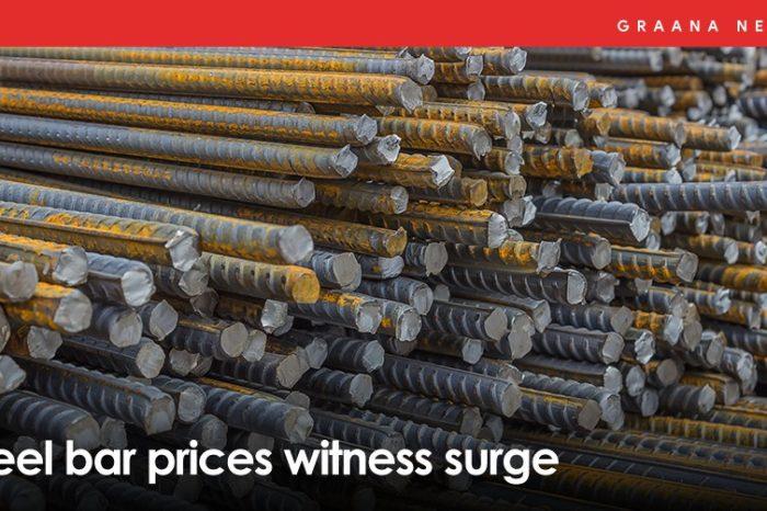 Steel bar prices witness surge