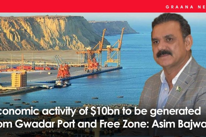 Economic activity of $10bn to be generated from Gwadar Port and Free Zone: Asim Bajwa