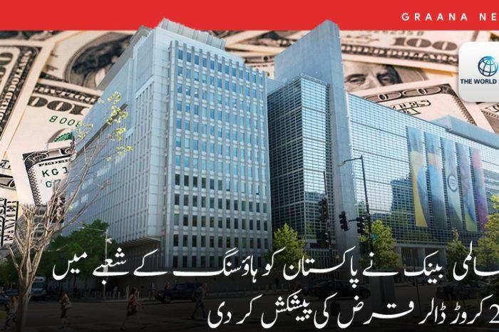 عالمی بینک نے پاکستان کو ہاؤسنگ کے شعبے میں 29 کروڑ ڈالر قرض کی پیشکش کر دی