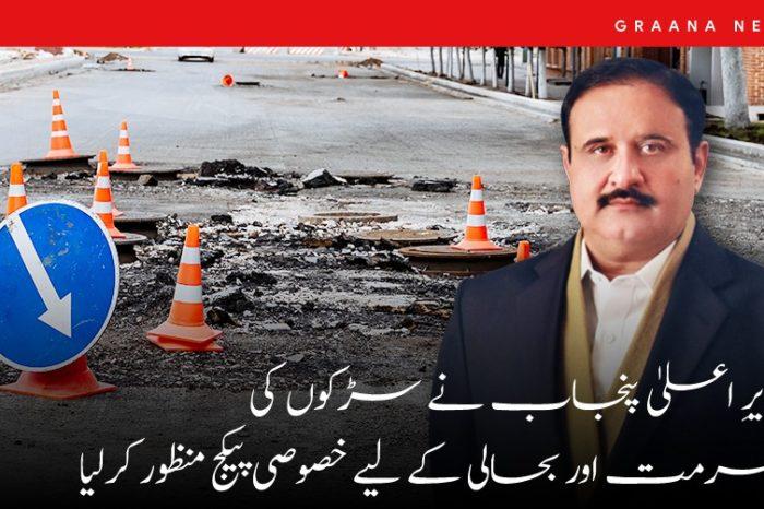 وزیرِ اعلیٰ پنجاب نے سڑکوں کی مرمت اور بحالی کے لیے خصوصی پیکج منظور کرلیا