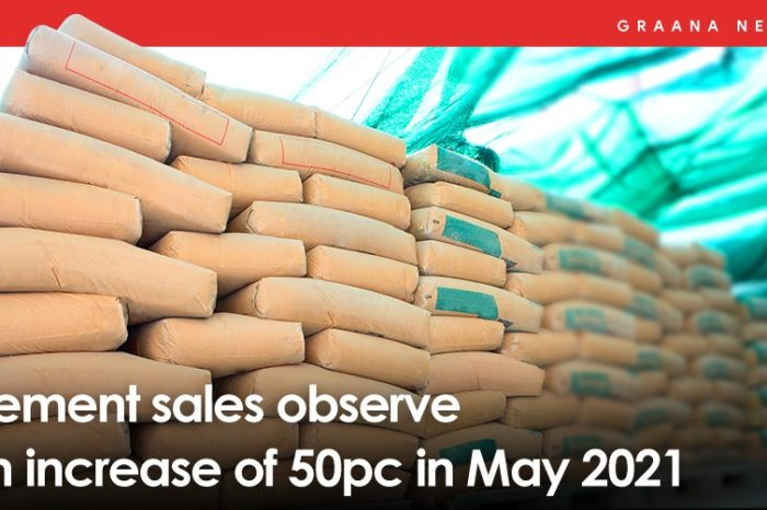 Cement sales observe an increase of 50pc in May 2021