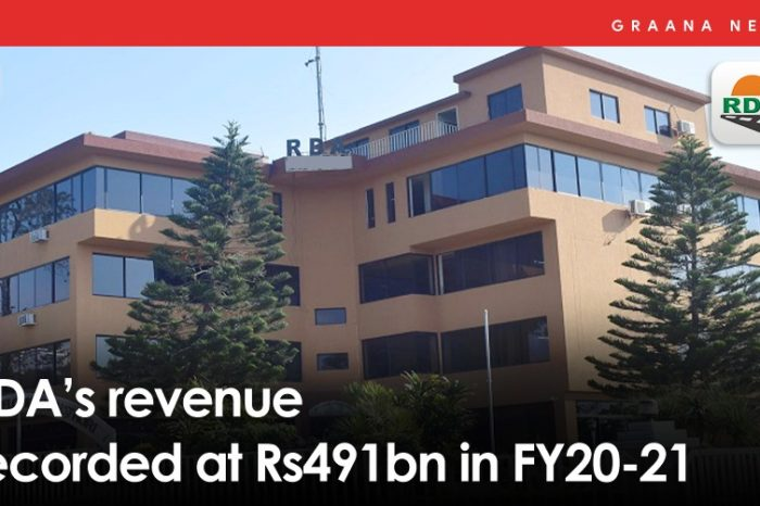 RDA's revenue recorded at Rs491bn in FY20-21