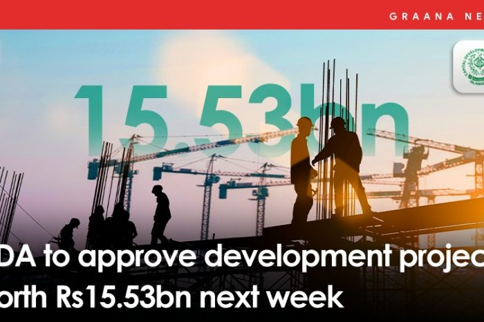 CDA to approve development projects worth Rs15.53bn next week