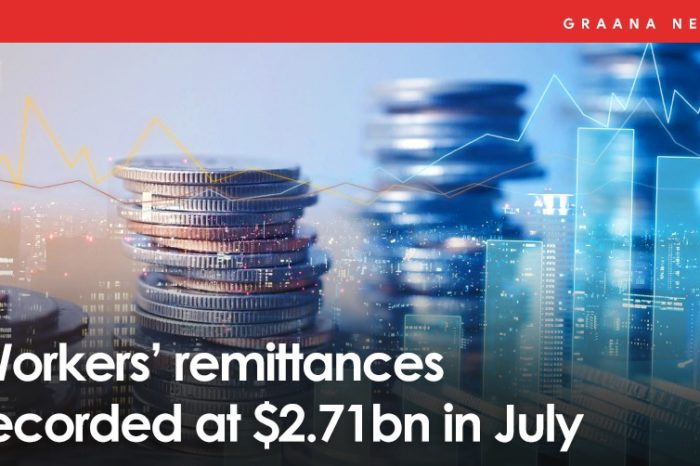Worker's remittances recorded at $2.71bn in July