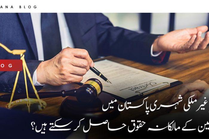 کیا غیرملکی شہری پاکستان میں زمین کے مالکانہ حقوق حاصل کر سکتے ہیں؟