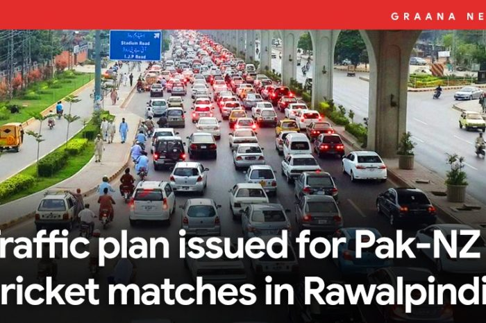 Traffic plan issued for Pak-NZ cricket matches in Rawalpindi