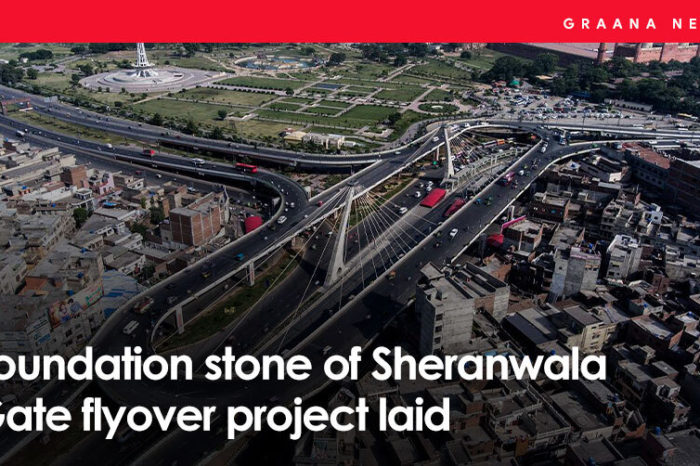 Foundation stone of Sheranwala Gate flyover project laid